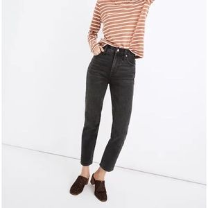 Madewell perfect vintage crop jeans black grey 26